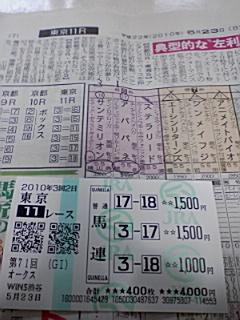 5月23日  第71回優駿牝馬